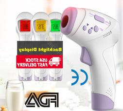 Infrared Thermometer Digital LED Forehead No-Touch Body Adul