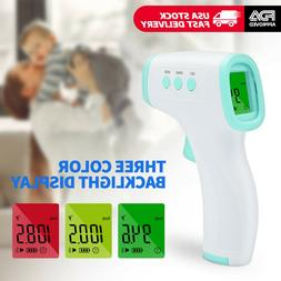 infrared thermometer digital led forehead no touch