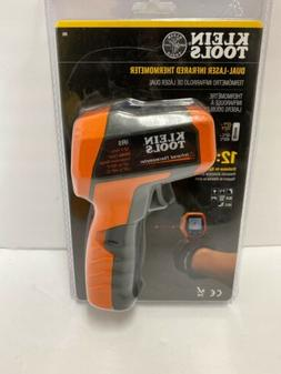 Klein Tools Infrared Thermometer Dual Targeting Lasers Backl