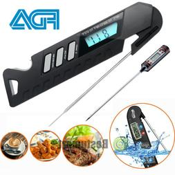 Instant Read Digital Meat Thermometer Waterproof BBQ Kitchen