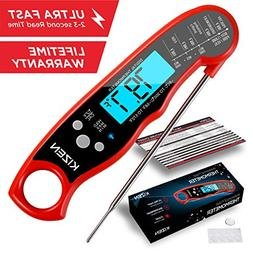 Instant Read Meat Thermometer - Best Waterproof Ultra Fast T