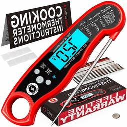 Instant Read Meat Thermometer For Grill And Cooking. UPGRADE