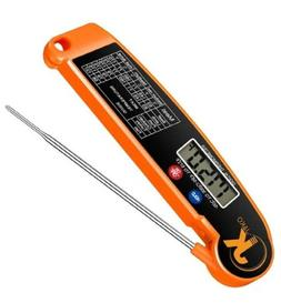 Instant Read Meat Thermometer - SHOWIN Waterproof Ultra Fast