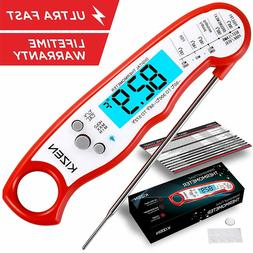 Kizen Instant Read Meat Thermometer - Best Waterproof Ultra