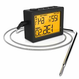 instant thermometer with high low temperature alarms