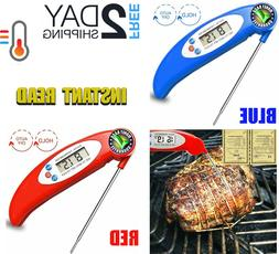 Internal Meat Thermometer Long Probe Instant Read Digital Fo