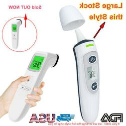 IR Infrared Forehead Ear Thermometer 3IN Non-Contact Baby&Ad