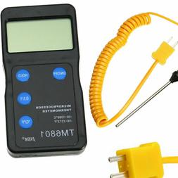 K Type High Temperature Digital Thermometer Pyrometer & Prob