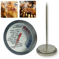 Kitchen Analog Meat Thermometer for Grilling Smoking Oven Sa