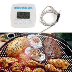 Kitchen Probe Timer Alarm Function Thermometer With Cable Wi
