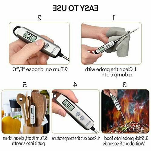 Habor Meat Instant Thermometer Standard, Elegant