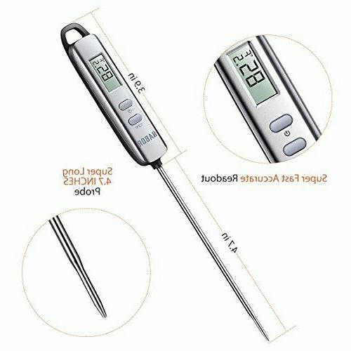 Habor Instant Thermometer Elegant Silver