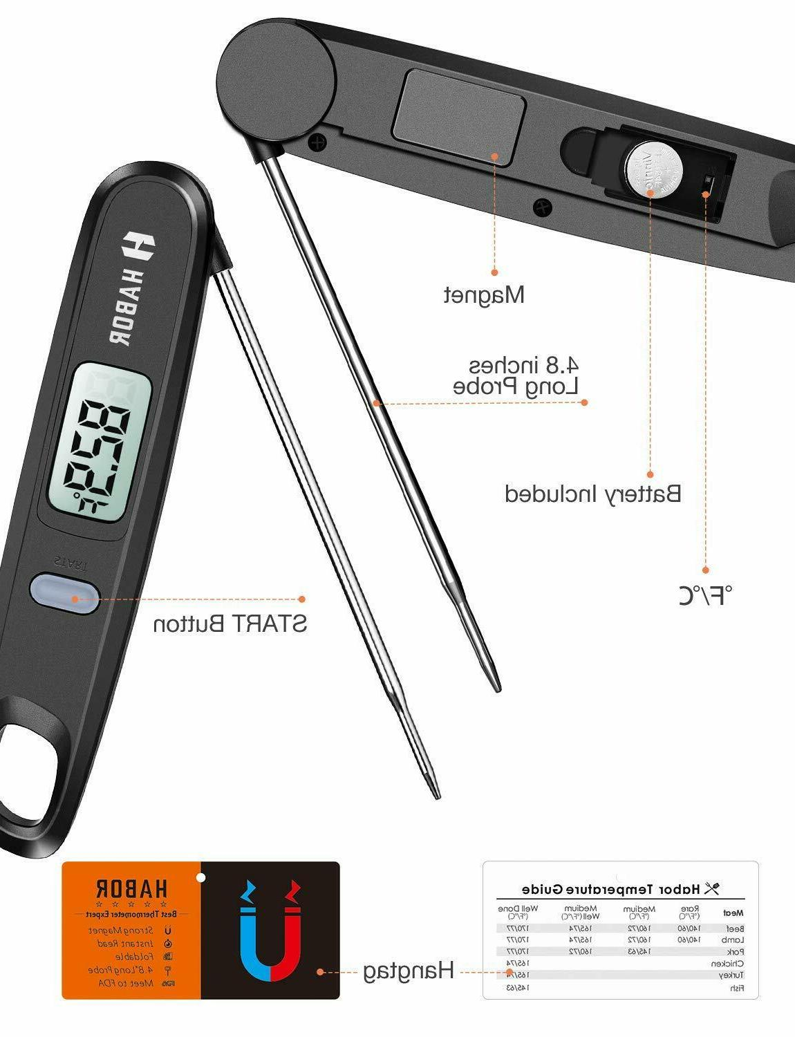 Habor 050 Thermometer,4.8 inches Folding Off