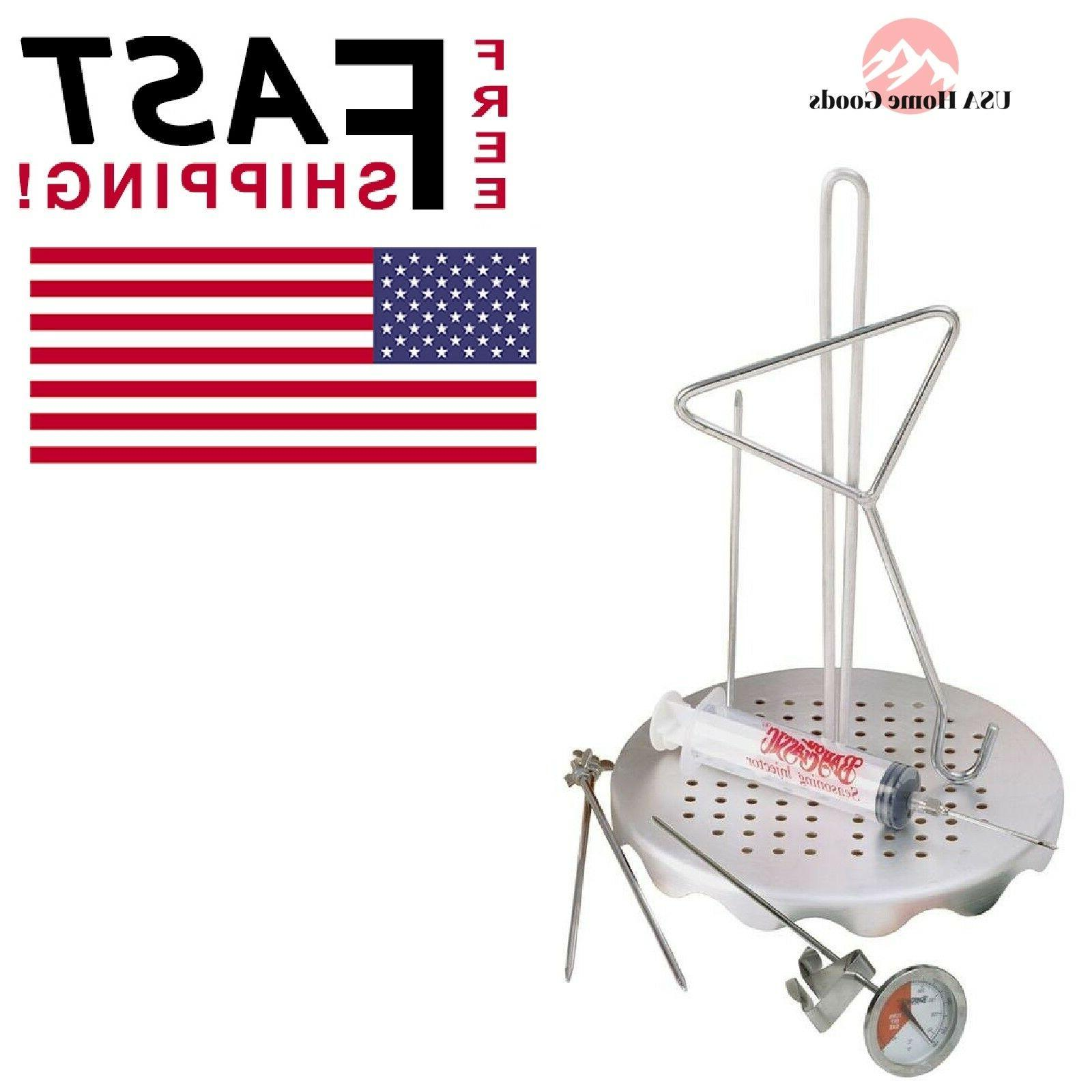 0835 complete poultry frying rack