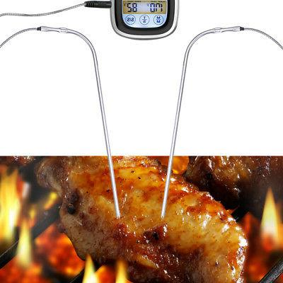 2pc Meat Food Thermometer Probe Stainless Steel For BBQ Oven