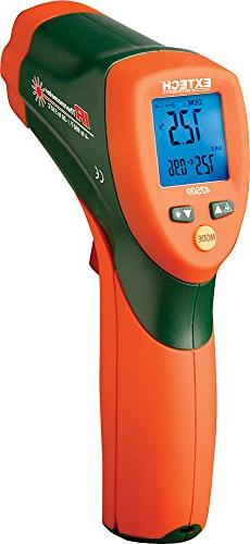 Extech 42509 Dual Laser IR Thermometer w/Color Alert
