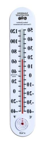 Learning Advantage Indoor/Outdoor Classroom Thermometer Larg
