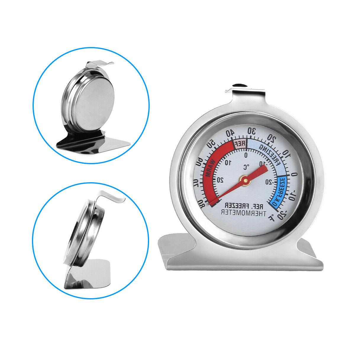 Stainless Steel Refrigerator Fridge Thermometer