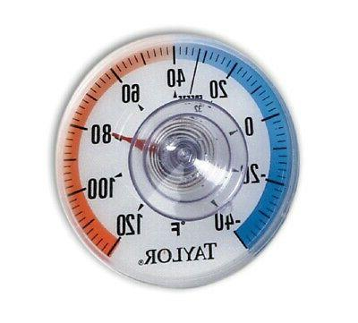 """Taylor 5321N Suction Cup Dial Thermometer, 3.5"""""""