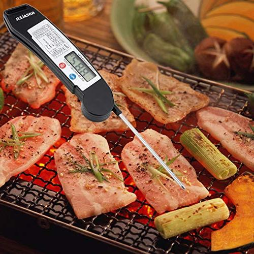GDEALER Read Meat Folding Probe Temperature Guide Kitchen Food Candy BBQ Grill Cooking Fry
