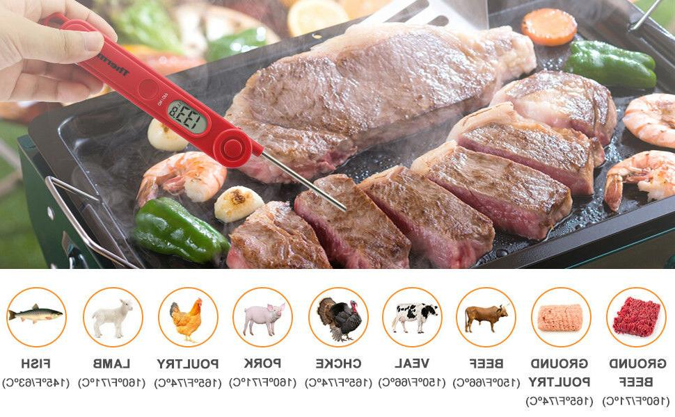 Instant Read Digital Meat Cooking BBQ Grill Smoker