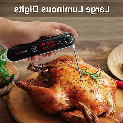 ThermoPro TP18 Fast Digital Meat with Thermocouple for Kitchen Candy Grill Smoker Oil