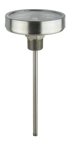 """REOTEMP AA0901F49 Stainless Steel Bi Metal Thermometer, 9"""" S"""
