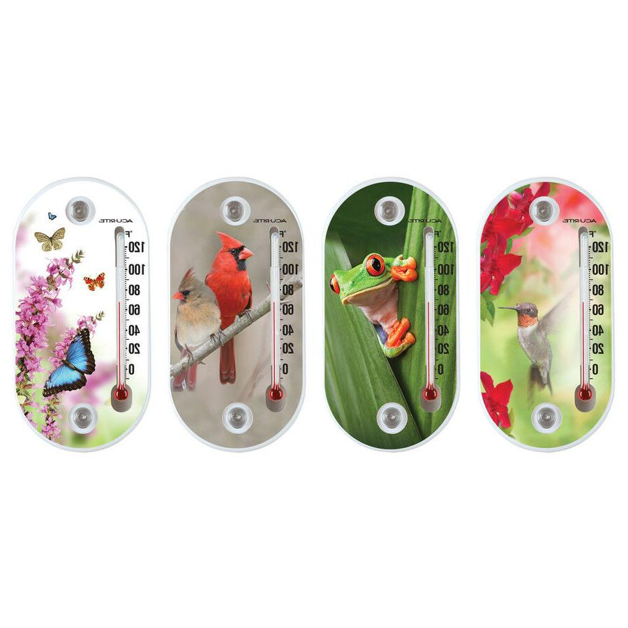AcuRite Indoor/Outdoor Assorted colors Thermometer Plastic N