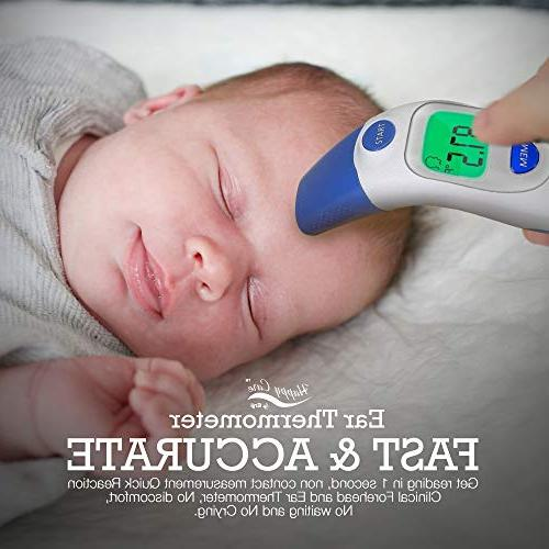 and Forehead - Temporal Electronic Dual Temperature 1 Second Read, For Babies, Kids & Ear