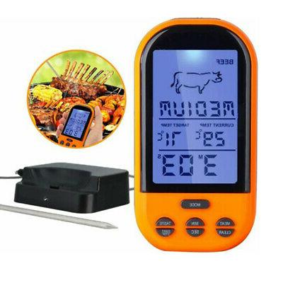 BBQ Meat Probe Wireless Cooking Thermometer Remote Read For