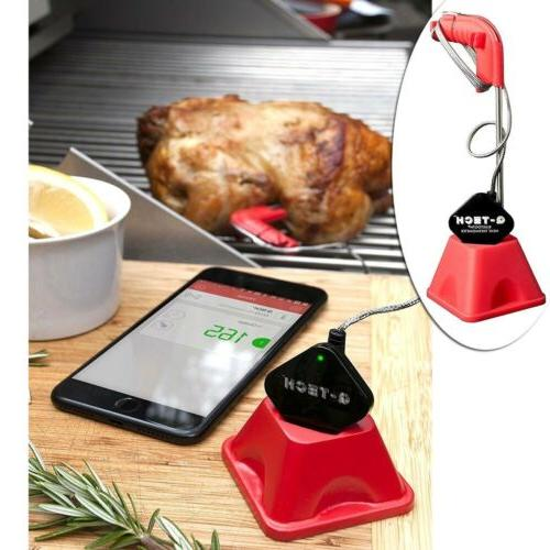 bluetooth meat thermometer stainless steel probe grill