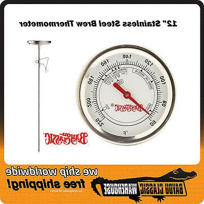 brew thermometer stainless steel 60 220