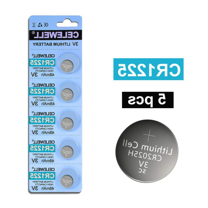 celewell 5 pack cr1225 3v lithium battery