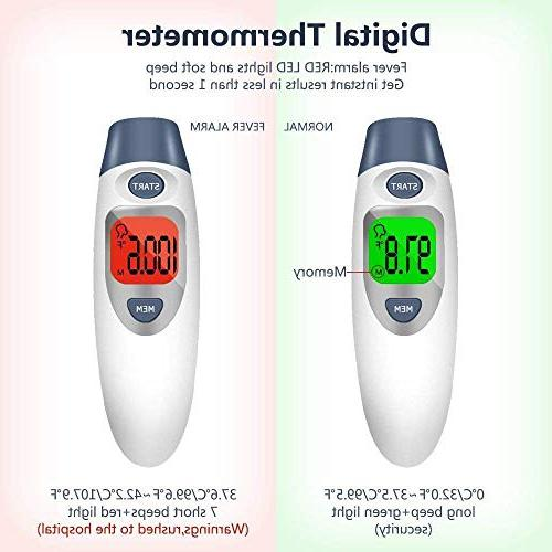 Besyoyo and Infrared Digital Thermometer,Fast Accurate Alarm for & Adults