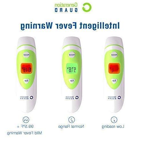 Clinical Forehead Ear Thermometer - Infrared Digital Thermometer and FDA Approved Checking of Child Toddler