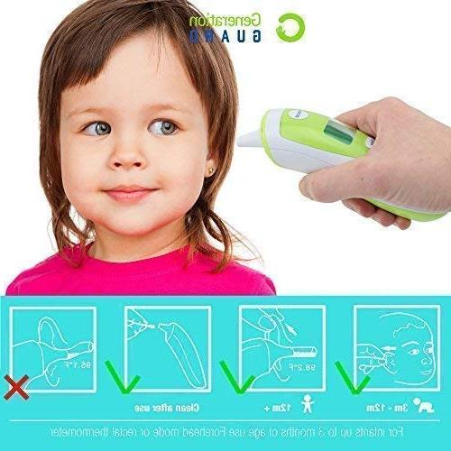 Clinical Forehead Thermometer - Dual Mode Infrared w/Backlight and Checking Toddler Adult