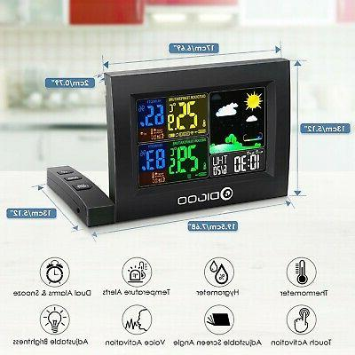 Color Digital Lcd Station Wireless Calendar Indoor Outdoor