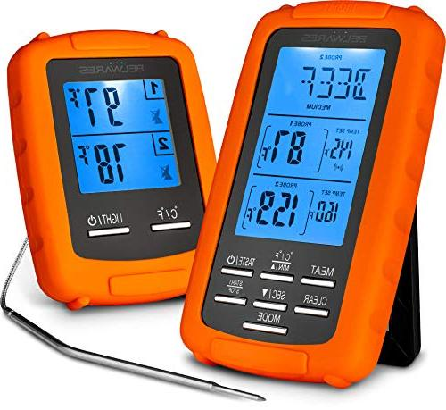 Cooking and Thermometer Dual for Cooking, Baking, Smoker Timer and