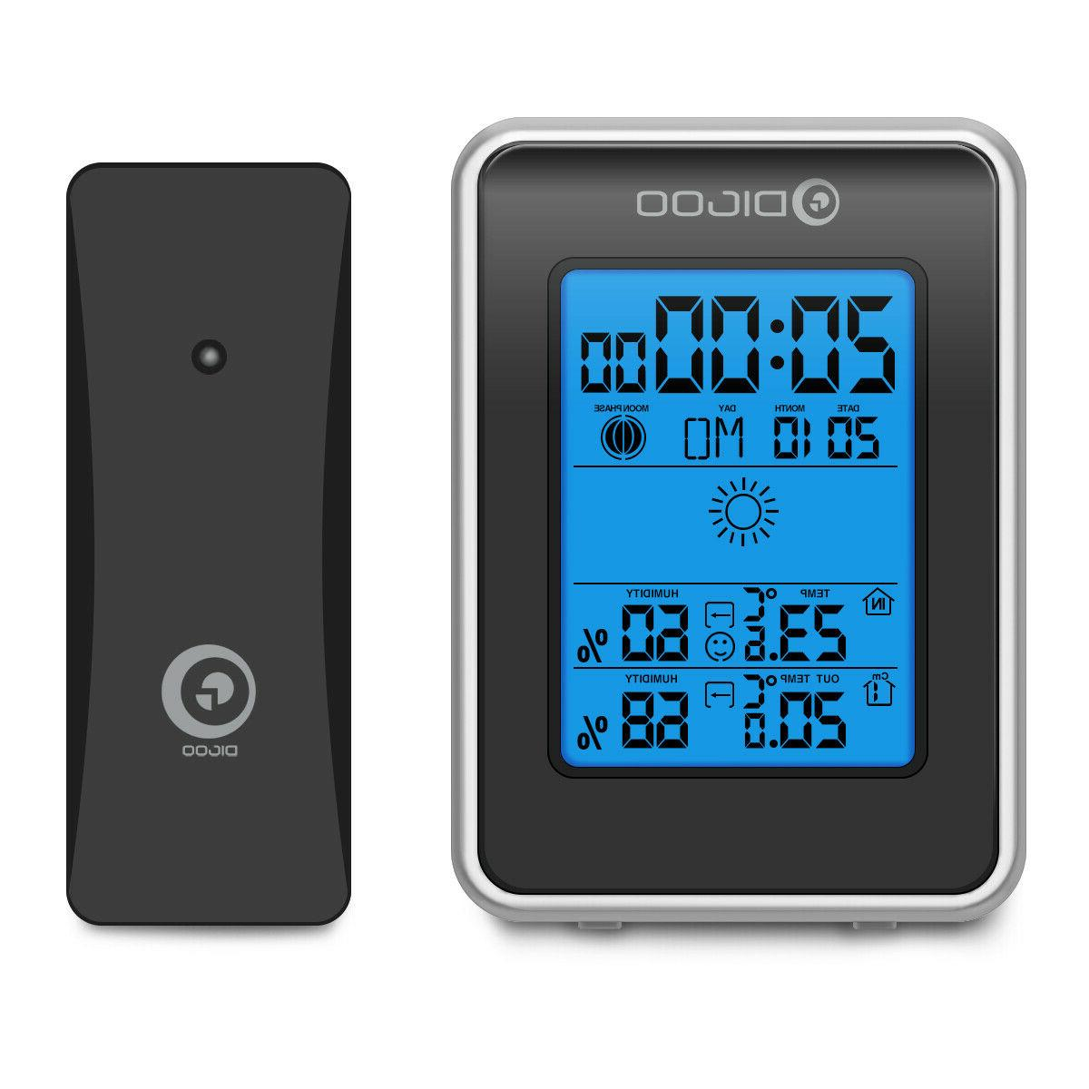 Digoo DG-TH1981 Thermometer Moon Phase W/Outdoor