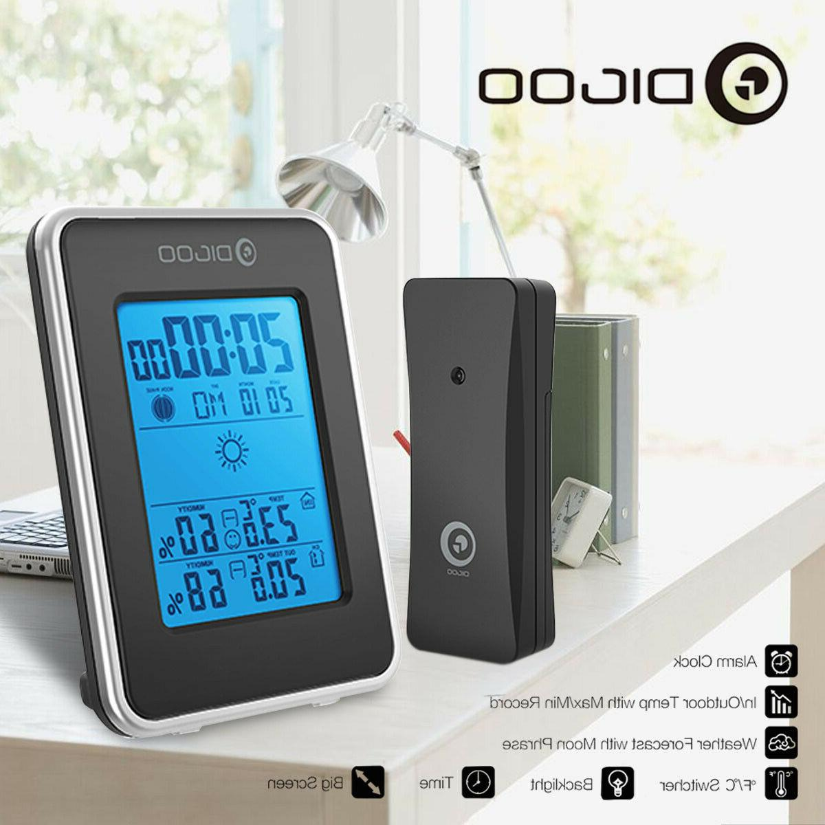 Digoo Thermometer Clock W/Outdoor