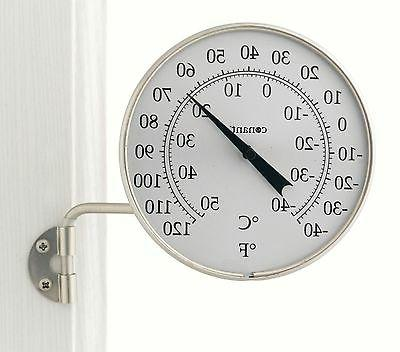 Conant Dial Thermometer Satin Nickel Finish for Indoor or Ou