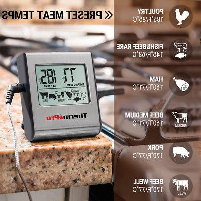 ThermoPro Digital Thermometer Smoker Grill Food Thermometer