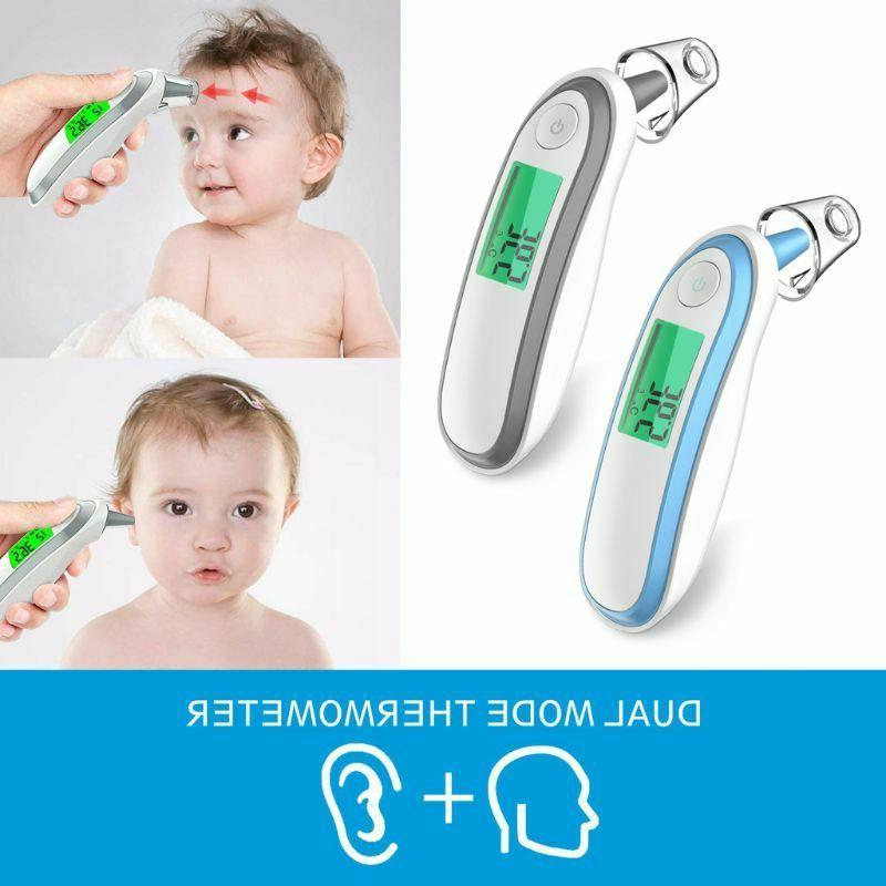 Digital Ear And Forehead Infrared Thermometer Baby Kids Adul