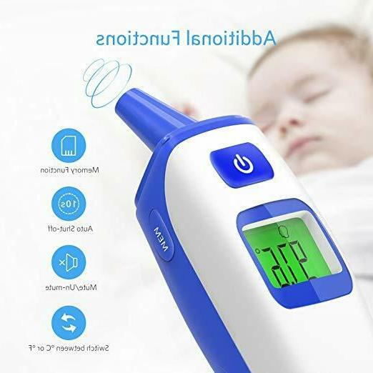 Digital Ear Thermometer Baby Fever Body Temperature