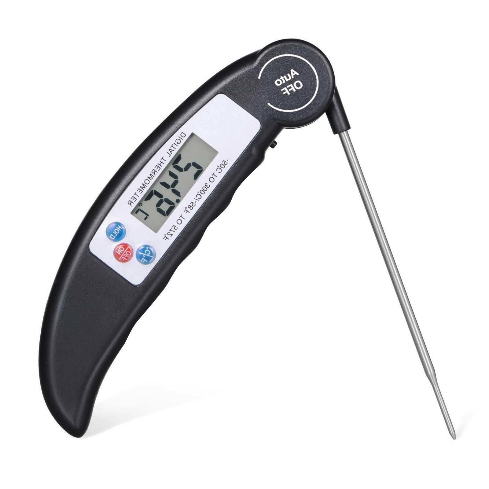 Digital Instant Read Probe Thermometer Grill Kitchen Meat Cooking