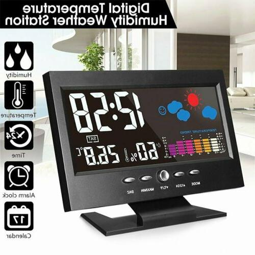 Digital LCD Display Thermometer Hygrometer Weather Station A
