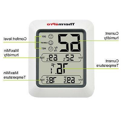 ThermoPro Digital LCD Thermometer Hygrometer Temperature Meter