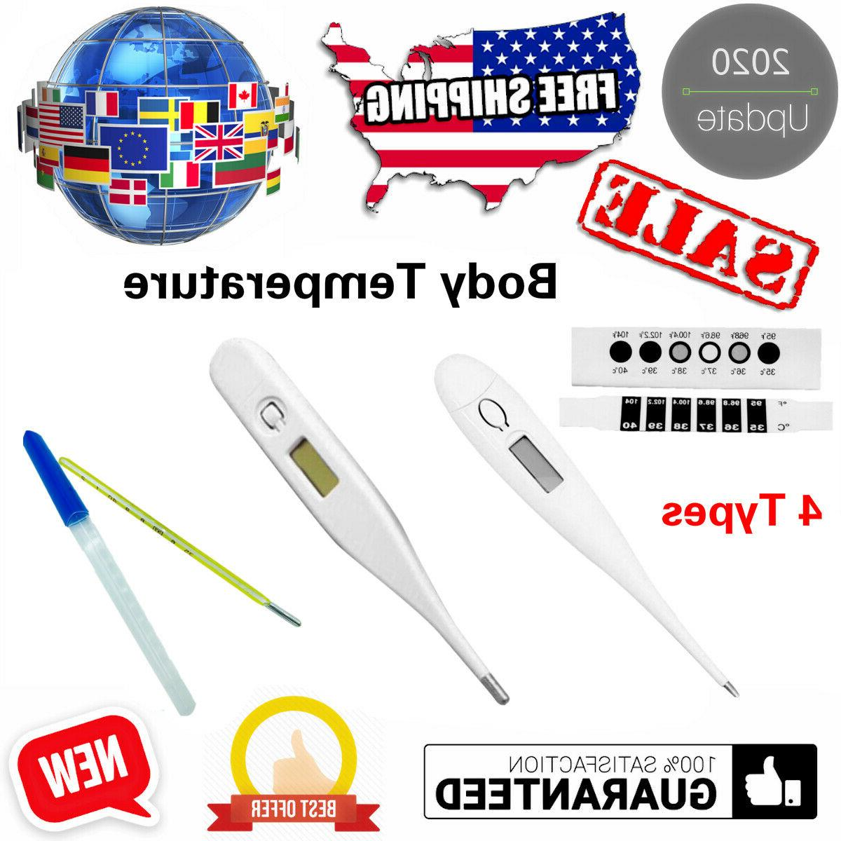 digital oral thermometer lcd baby adult kids