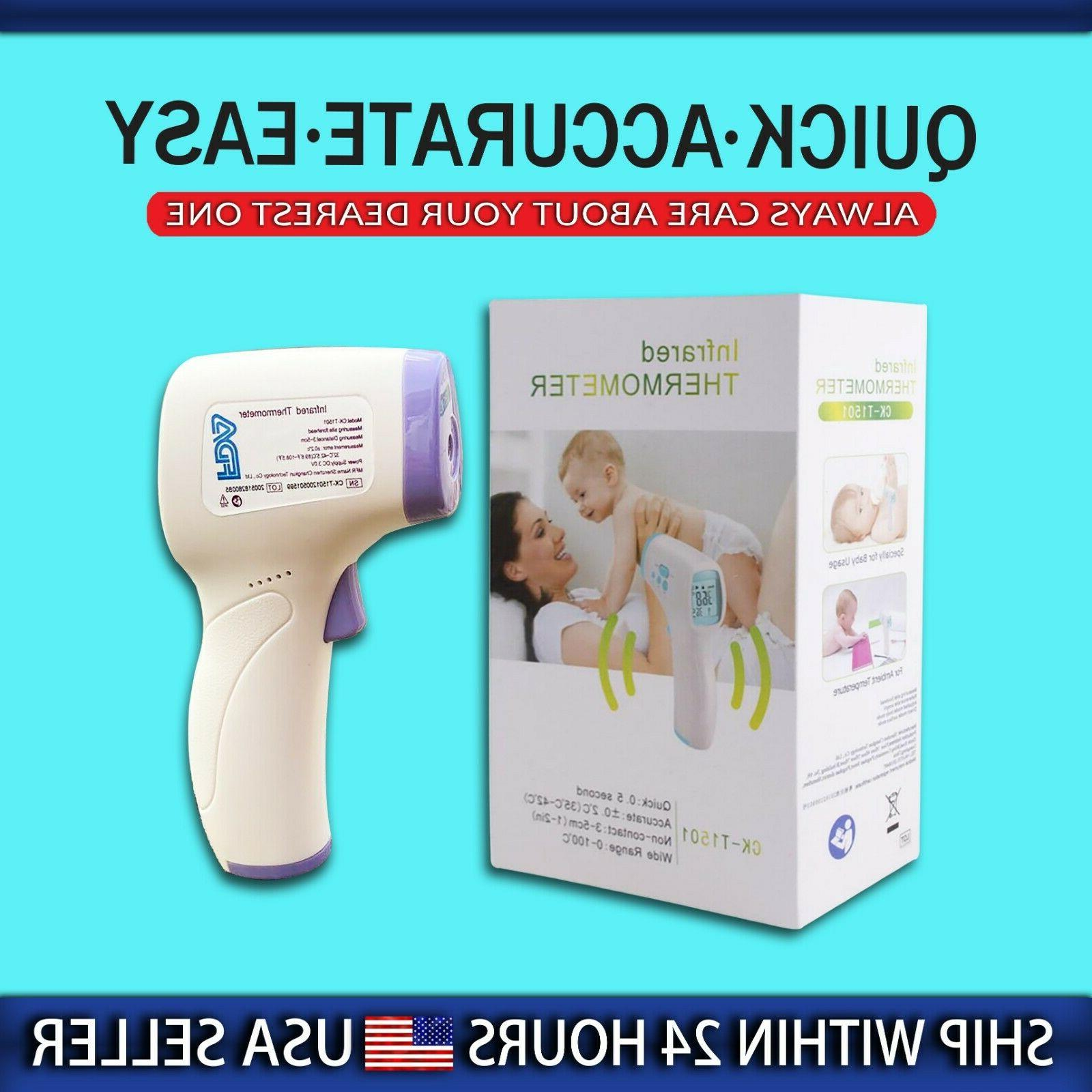 digital lcd non contact infrared thermometer forehead