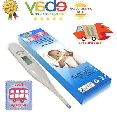 digital lcd thermometer body temperature mouth underarm